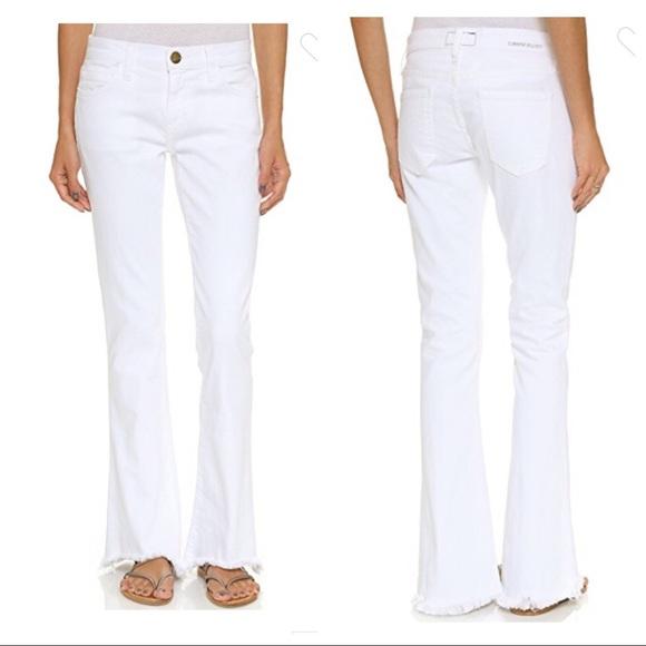 Current/Elliott Denim - Current/Elliott Flip Flop Raw Hem White Jeans 31